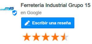 Escribe tu Reseñas en Google de Ferretería Grupo 15