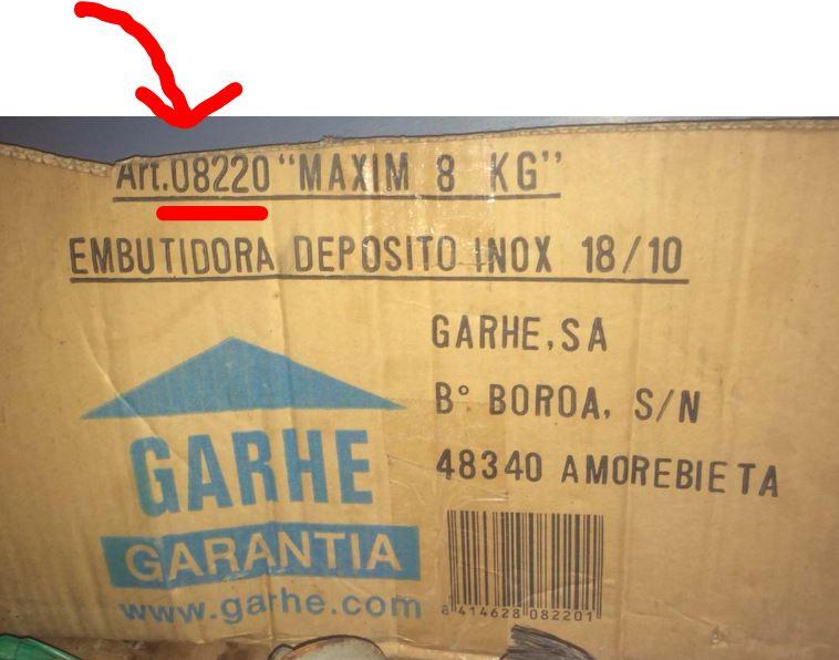 EMBUTIDORA BARHE 08220