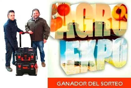 foto ganador sorteo agroexpo 2019